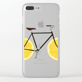 Lemon Bike Clear iPhone Case