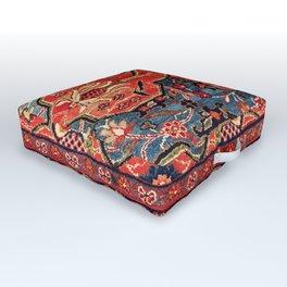 Kashan Poshti Central Persian Rug Print Outdoor Floor Cushion