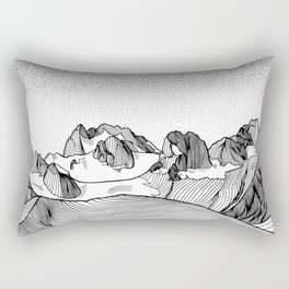 Snowpatch Spire Rectangular Pillow