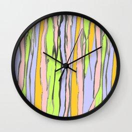 Dripping Dreams-Pink, ink painting, digital Wall Clock