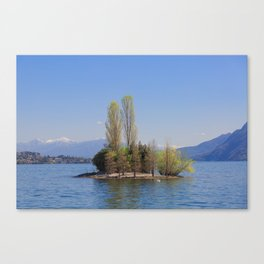 Romantic Island of Love on Lake Maggiore in Italy Canvas Print