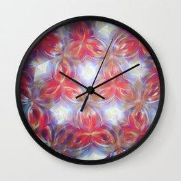 Kelidoscope flower Wall Clock