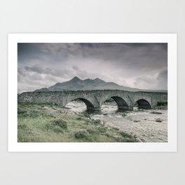 The Bridge and the Cuillin Art Print