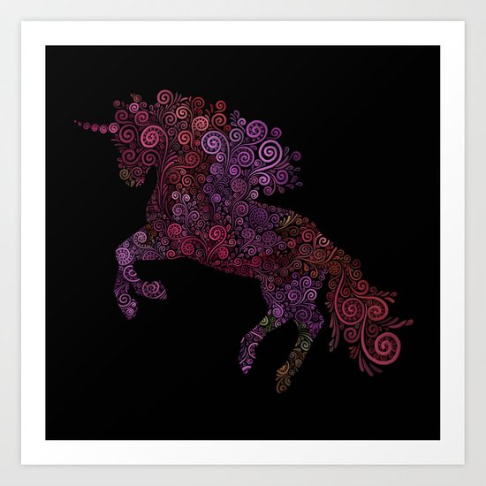 Unicornis Filix Art Print