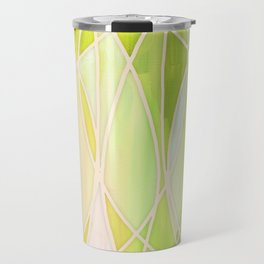 Lemon & Lime Love - abstract painting in yellow & green Travel Mug