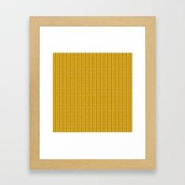Yellow sweater pattern Framed Art Print