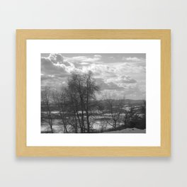 The Valley on the Other Side of the Trees Framed Art Print