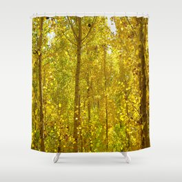 Yellow autumn. Autumn forest. Shower Curtain