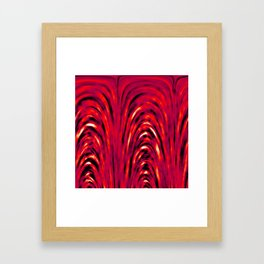 Heat Pattern Framed Art Print