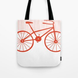 Red Bike by Friztin Tote Bag