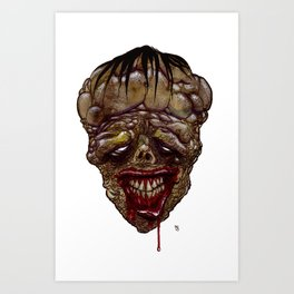Heads of the Living Dead Zombies: Mutant Zombie Art Print