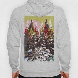 """Trees, Mountains, Flowers, Sun Vector Illustration"" Hoody"