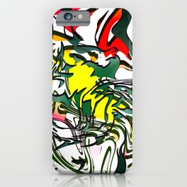 Abstract Colorful Ink iPhone Case