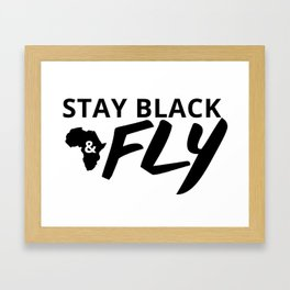 Stay Black and Fly Framed Art Print