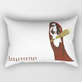 The Lady Demeter, Earth Mother Rectangular Pillow