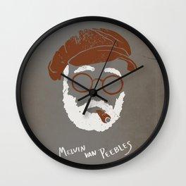 Melvin Van Peebles Minimalist Portrait Wall Clock