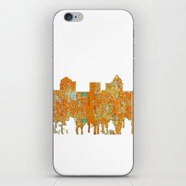 Greensboro, NC Skyline - Rust iPhone Skin