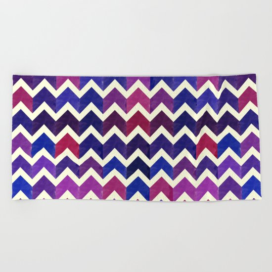 Colorful Chevron Pattern II Beach Towel