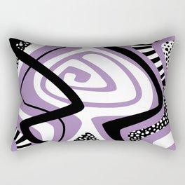 Purple Craze Abstract Rectangular Pillow