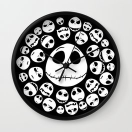 Halloween Jack Skellingtons emoticon face iPhone 4 4s 5 5c 6, pillow case, mugs and tshirt Wall Clock