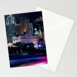 Light Streaks in Las Vegas, USA / Night City Series Stationery Cards