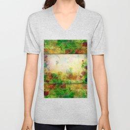 Ginkelmier Land ~ Watercolor Fairy Garden Unisex V-Neck