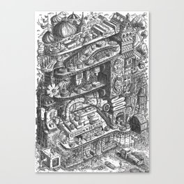 Farmer Machinery Canvas Print
