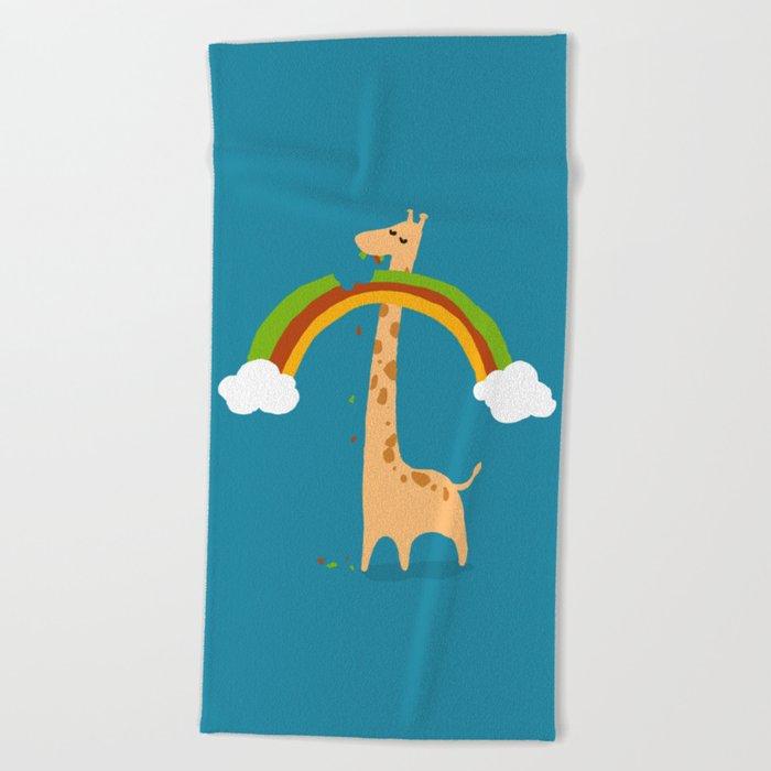Taste of Happiness Rainbow Beach Towel