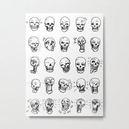Death Expressions B&W Metal Print