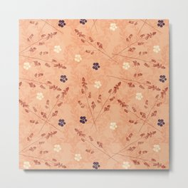 Floral Touch Metal Print