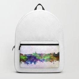 Geelong skyline in watercolor background Backpack