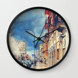 Trapani art 20 Sicily Wall Clock