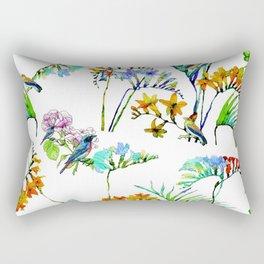 Botanical Watercolor (Color) Rectangular Pillow