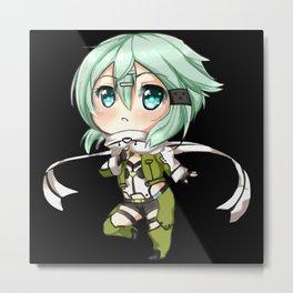 Chibi Sword Art Online Metal Print