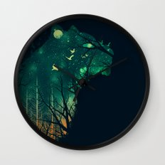 Space Tiger Wall Clock