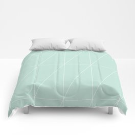 Mint Triangles by Friztin Comforters