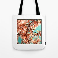 magnolia Tote Bags featuring magnolia by blackpool