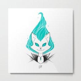 ScribbleNetty (Turquoise) Metal Print