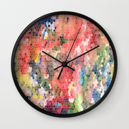 Psychedelic Snake Skin Wall Clock