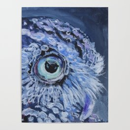 Owl At Twilight Poster