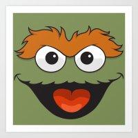 sesame street Art Prints featuring Sesame Street  by Jconner