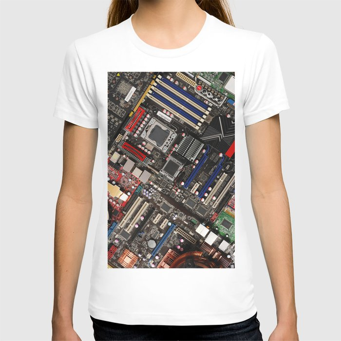 Computer motherboard T-shirt