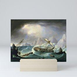 12,000pixel-500dpi - Shipwreck Off A Rocky Coast - Thomas Buttersworth Mini Art Print