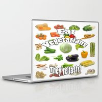 vegetarian Laptop & iPad Skins featuring Eat A Vegetarian by AuntyReni's Creations