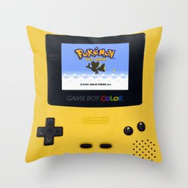 The Yellow Gameboy Throw Pillow