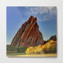 Red Rocks Panorama Metal Print