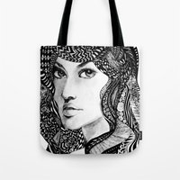 oriental Tote Bags featuring Oriental by Judy Hung