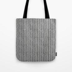 Grey Knit feeling Tote Bag
