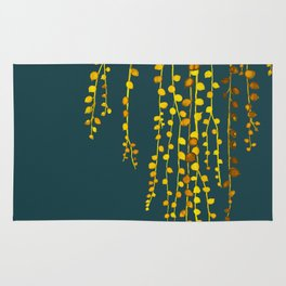 String of pearls #3 in yellow and blue Rug