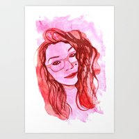 Amanda Alvear Watercolor Portrait Art Print